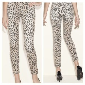 Guess Brittney Leopard Print Skinny Jeans